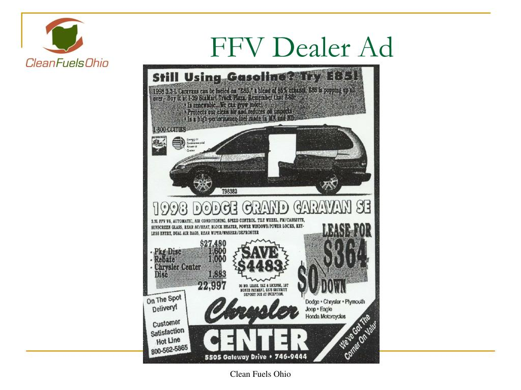FFV Dealer Ad