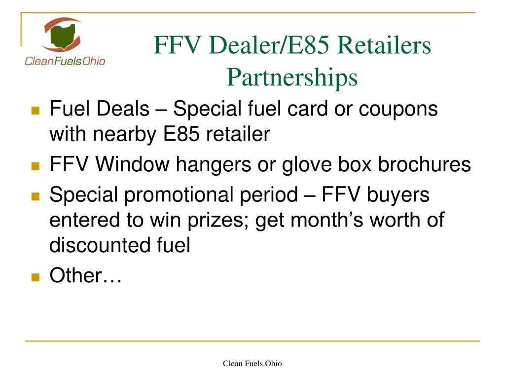 FFV Dealer/E85 Retailers Partnerships
