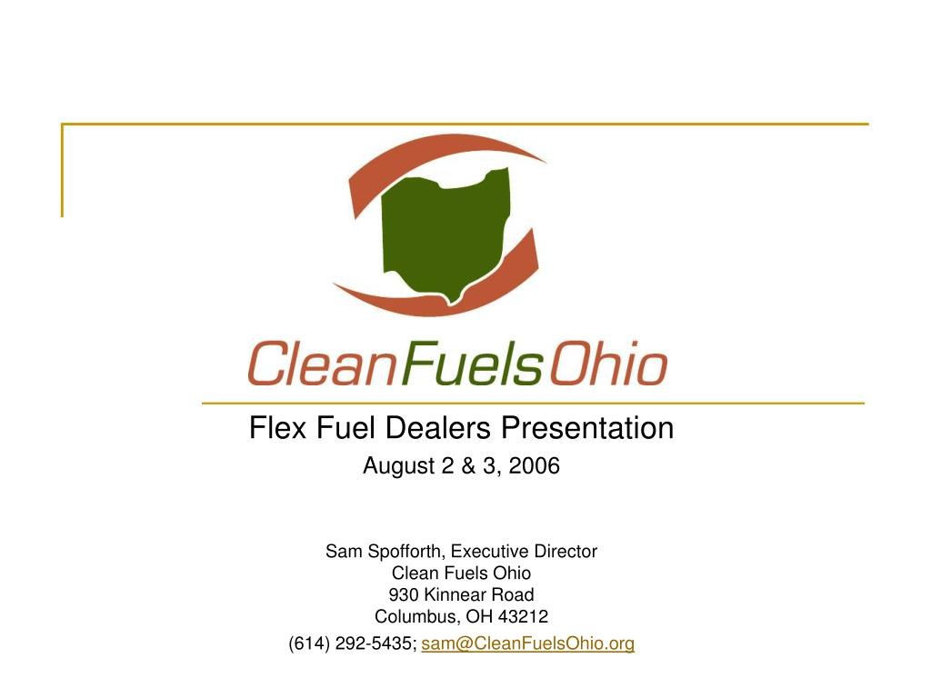 Flex Fuel Dealers Presentation