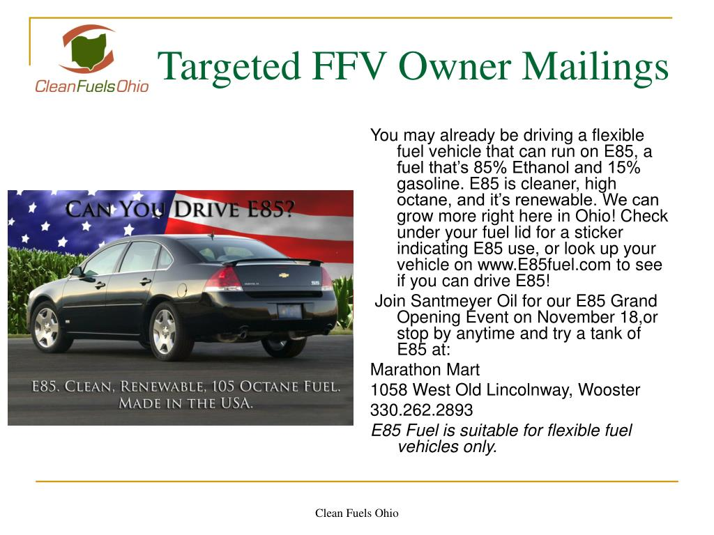 Targeted FFV Owner Mailings