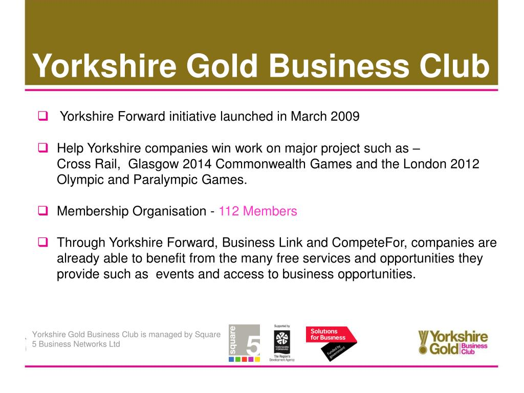 Yorkshire Gold Business Club