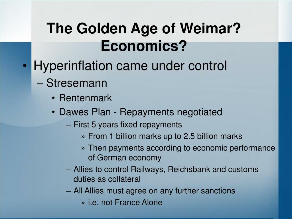 The Golden Age of Weimar?
