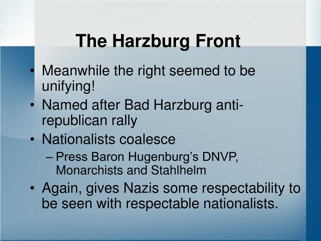 The Harzburg Front