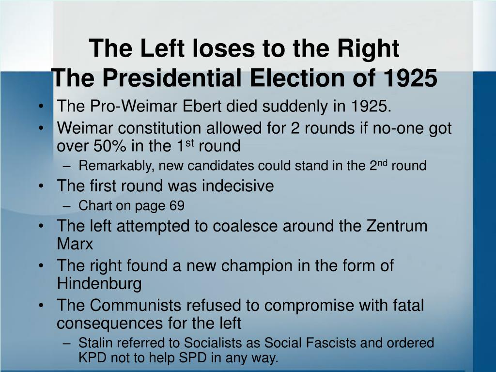 The Left loses to the Right