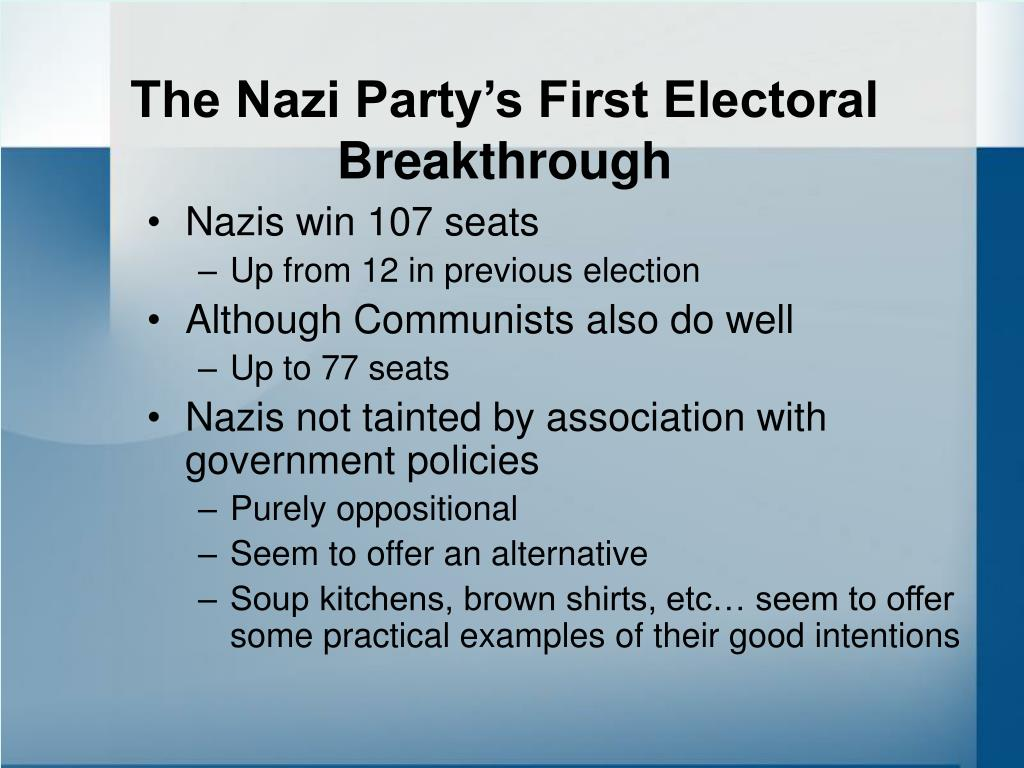 The Nazi Party's First Electoral Breakthrough