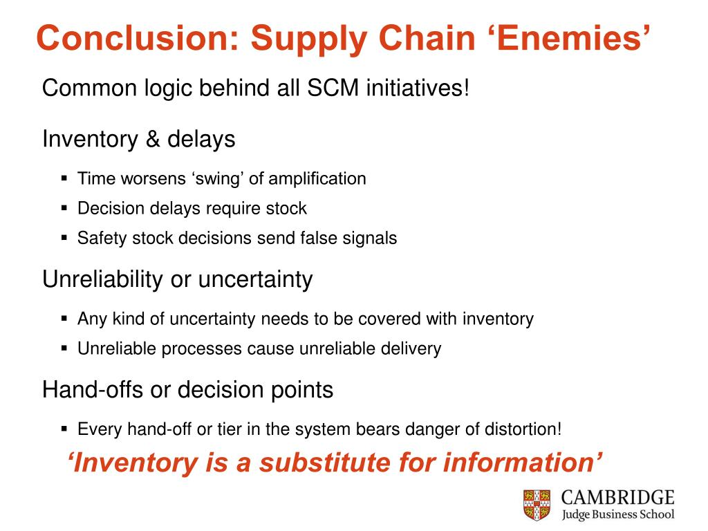 Conclusion: Supply Chain 'Enemies'