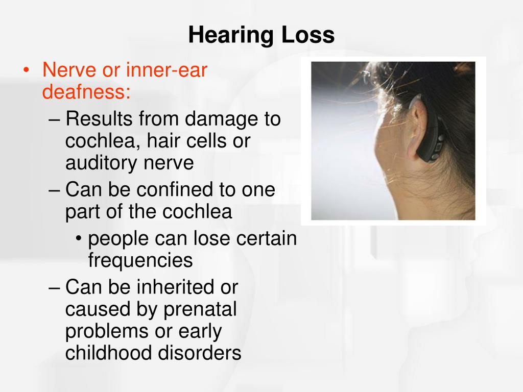 Nerve or inner-ear deafness:
