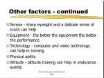 other factors continued