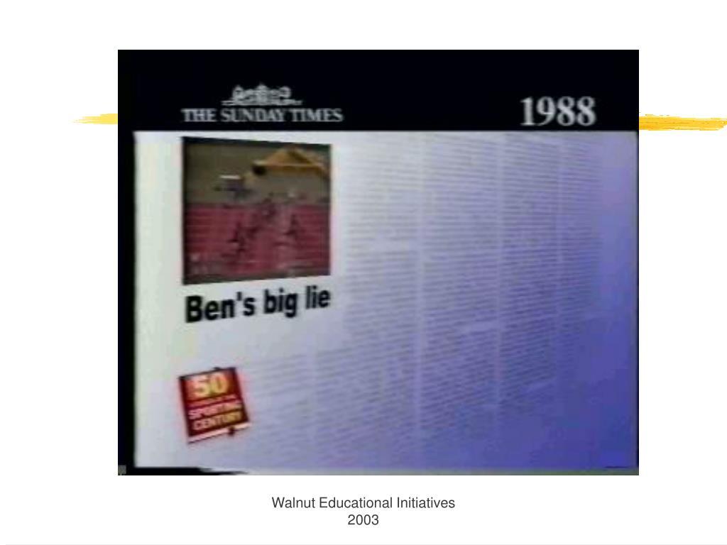 Walnut Educational Initiatives 2003