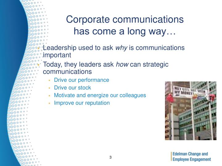 Corporate communications has come a long way