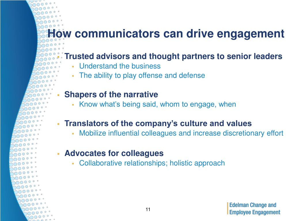 How communicators can drive engagement