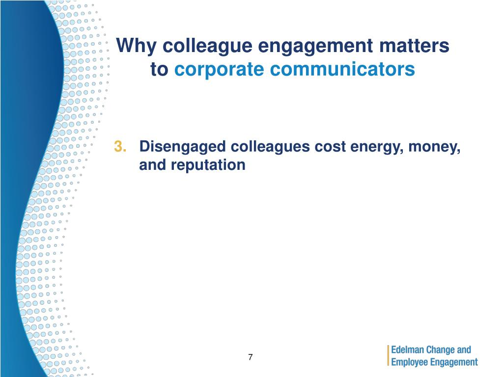 Why colleague engagement matters to
