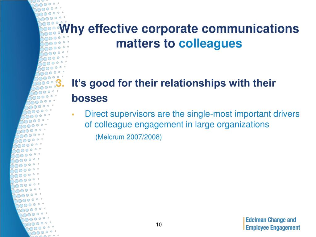 Why effective corporate communications matters to