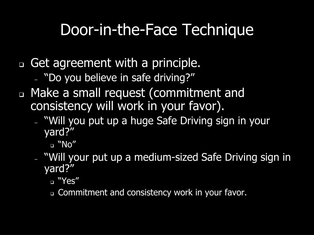 Door-in-the-Face Technique