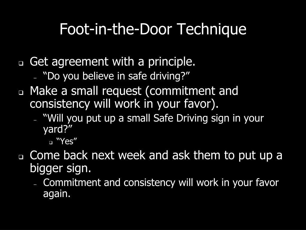 Foot-in-the-Door Technique
