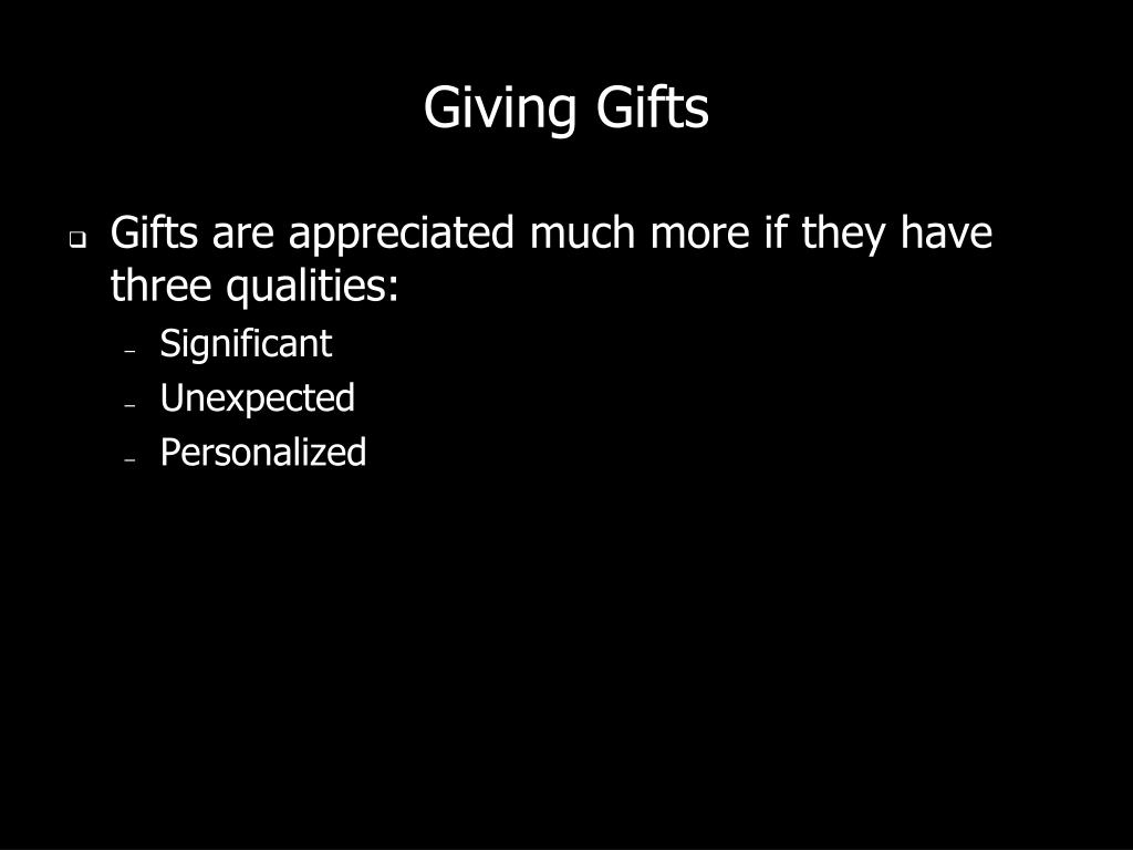 Giving Gifts