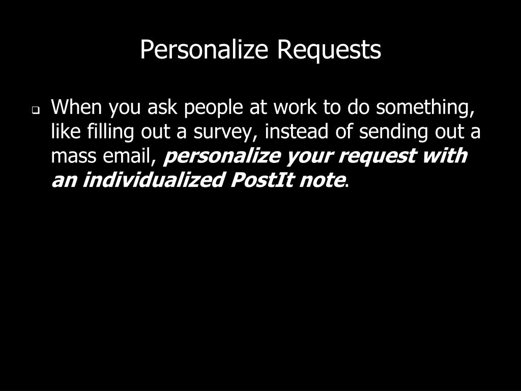 Personalize Requests