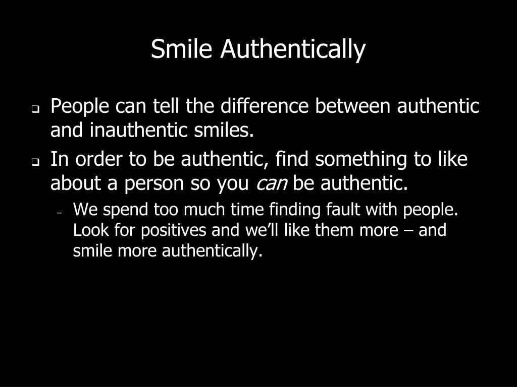 Smile Authentically