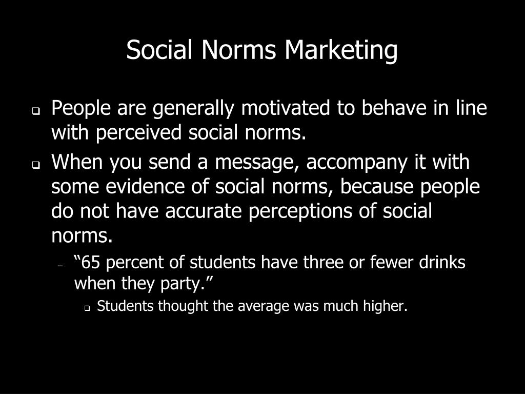 Social Norms Marketing