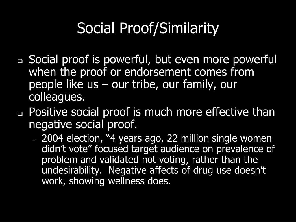 Social Proof/Similarity