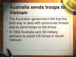 australia sends troops to vietnam