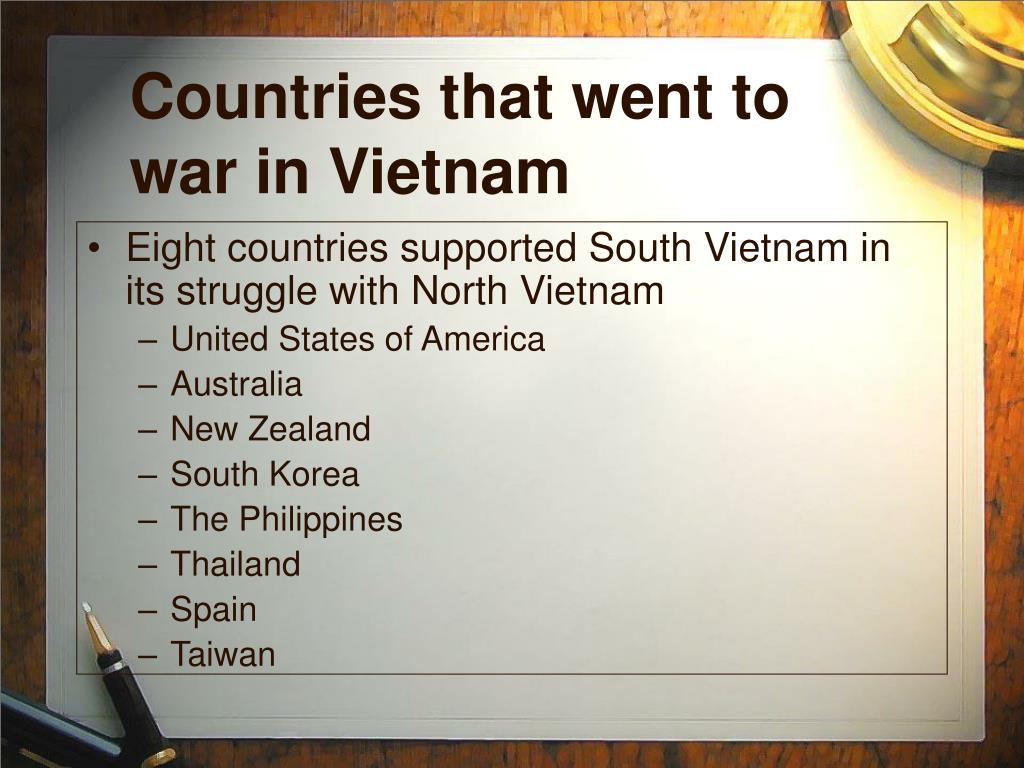 Countries that went to war in Vietnam
