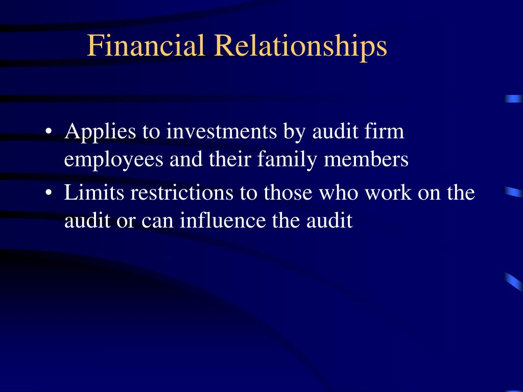 Financial Relationships