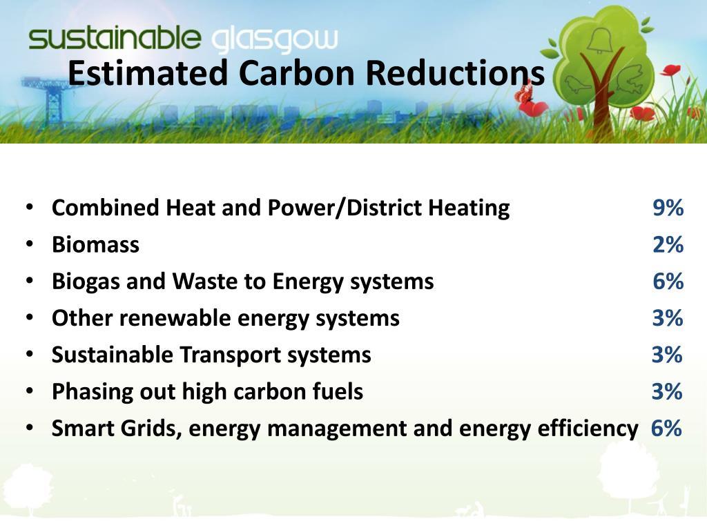 Estimated Carbon Reductions
