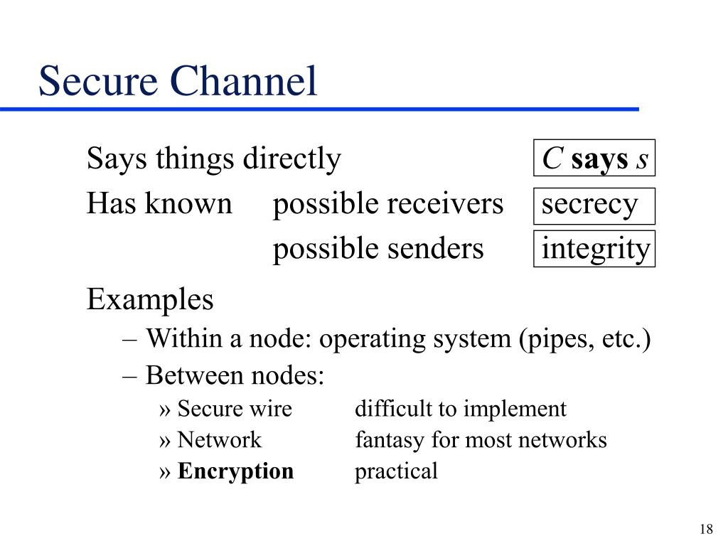 Secure Channel