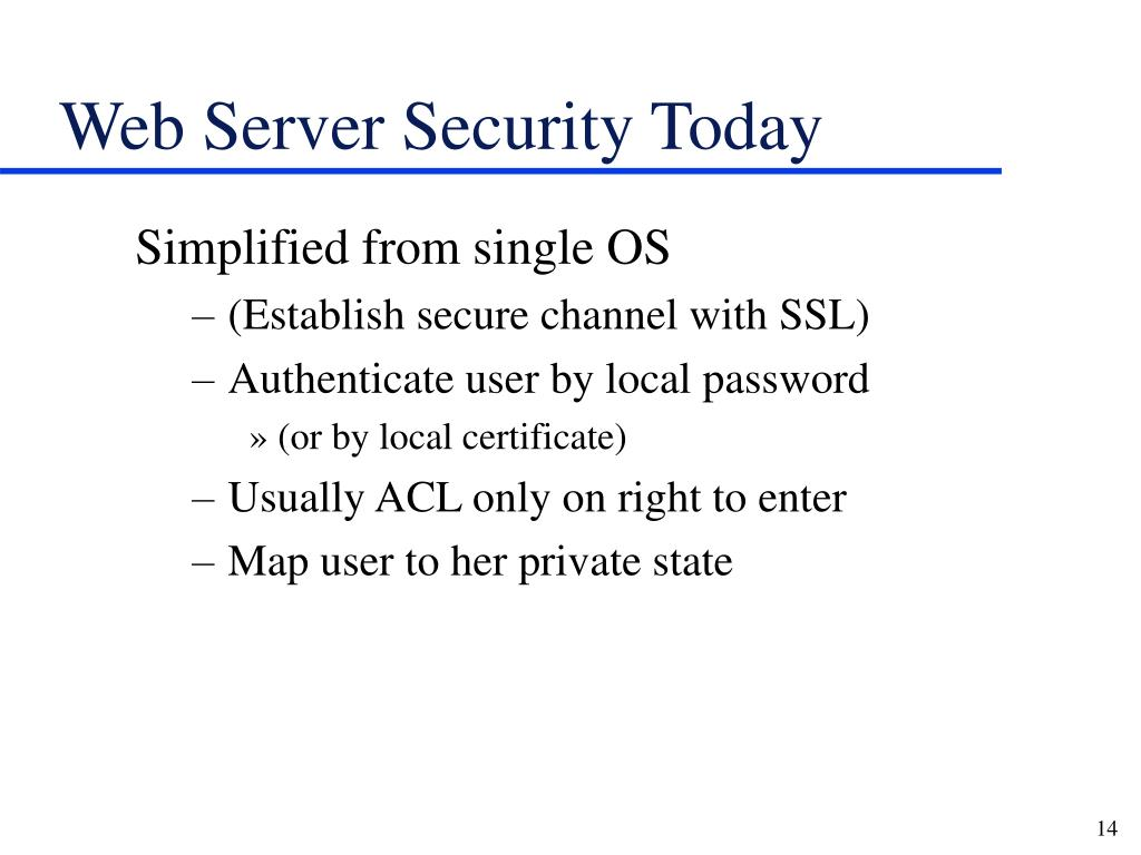 Web Server Security Today