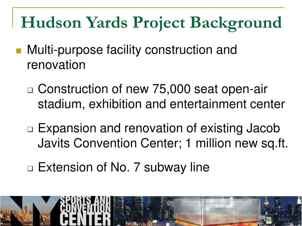 Hudson Yards Project Background