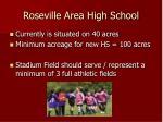 roseville area high school