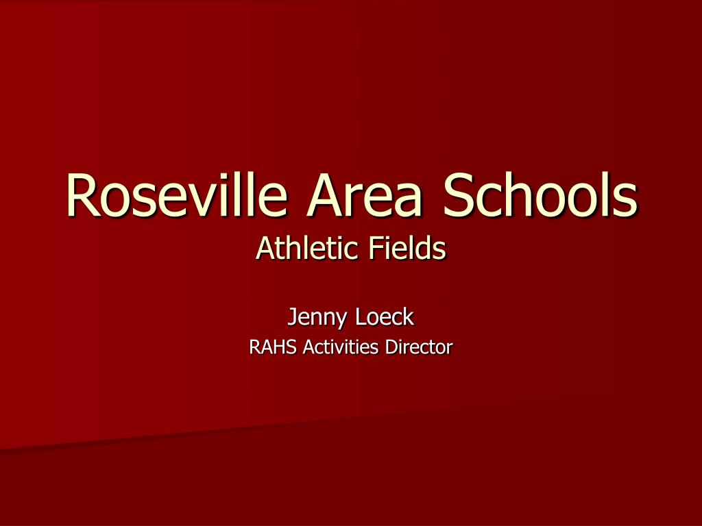 roseville area schools athletic fields