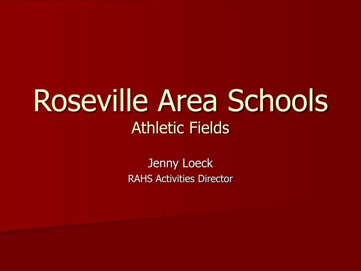 Roseville area schools athletic fields