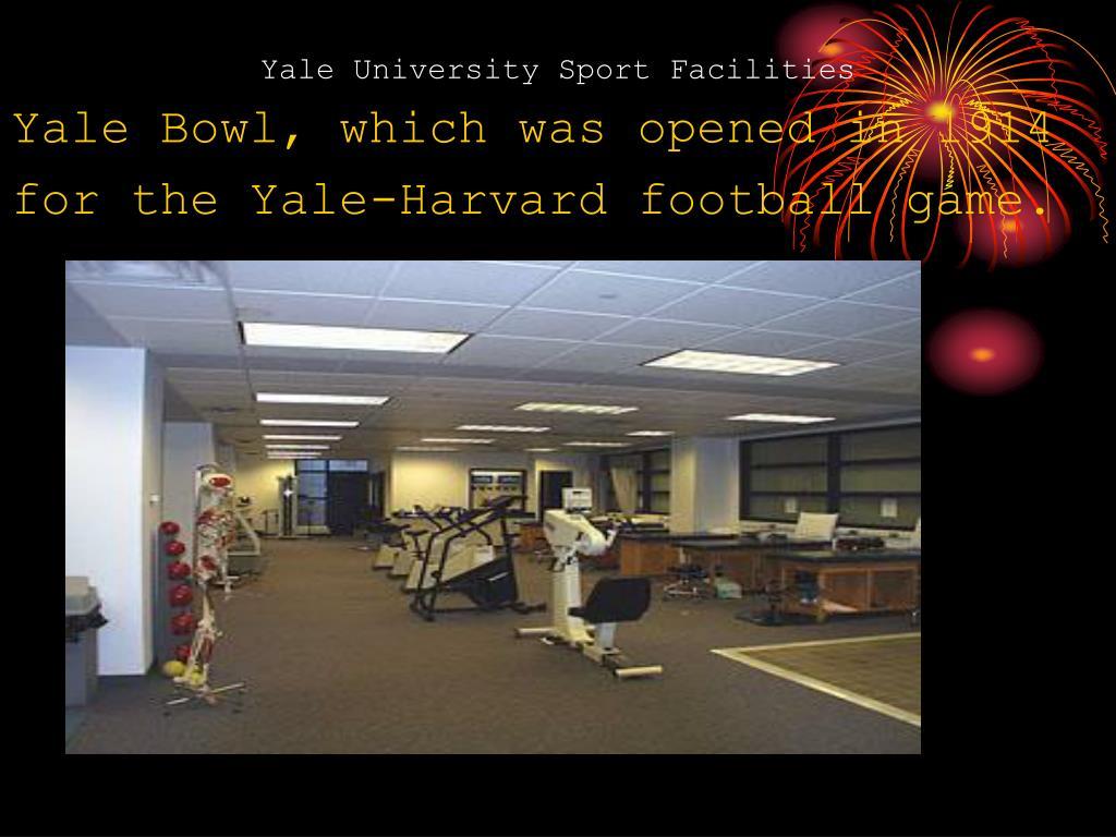 Yale University Sport Facilities