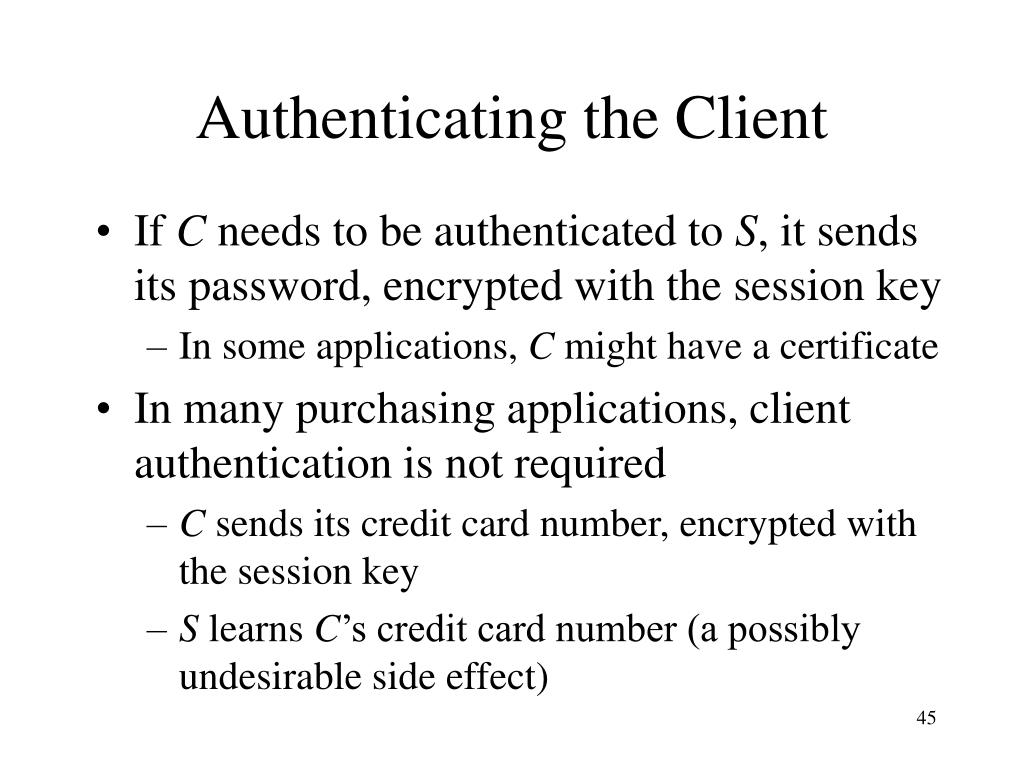 Authenticating the Client