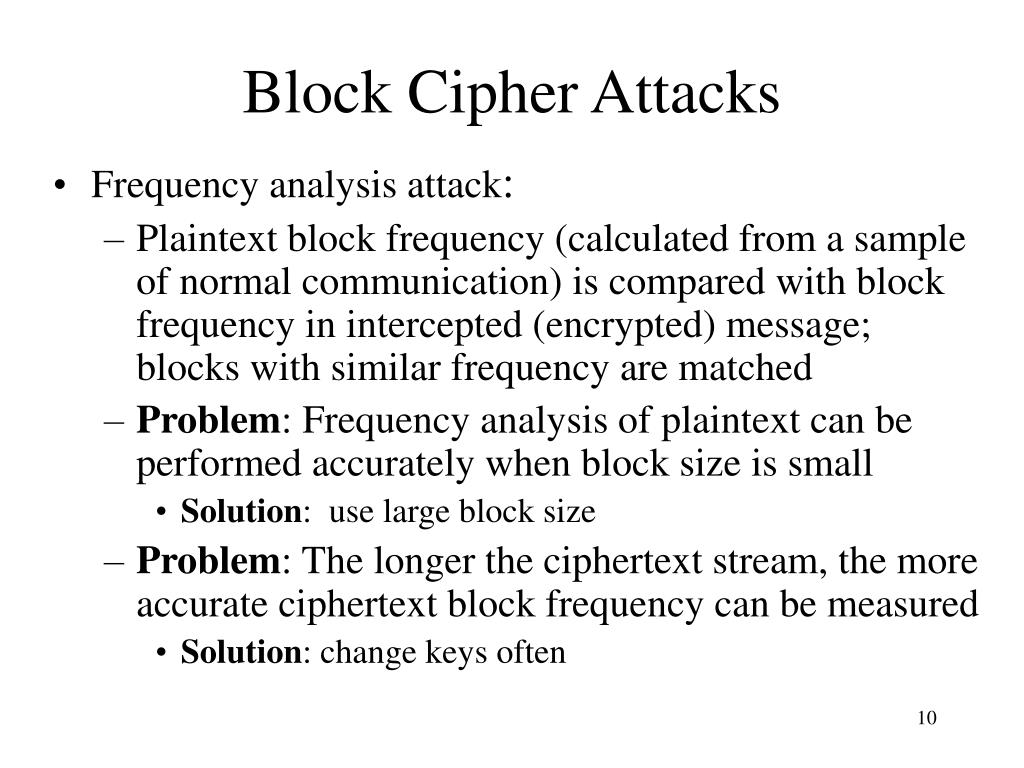 Block Cipher Attacks