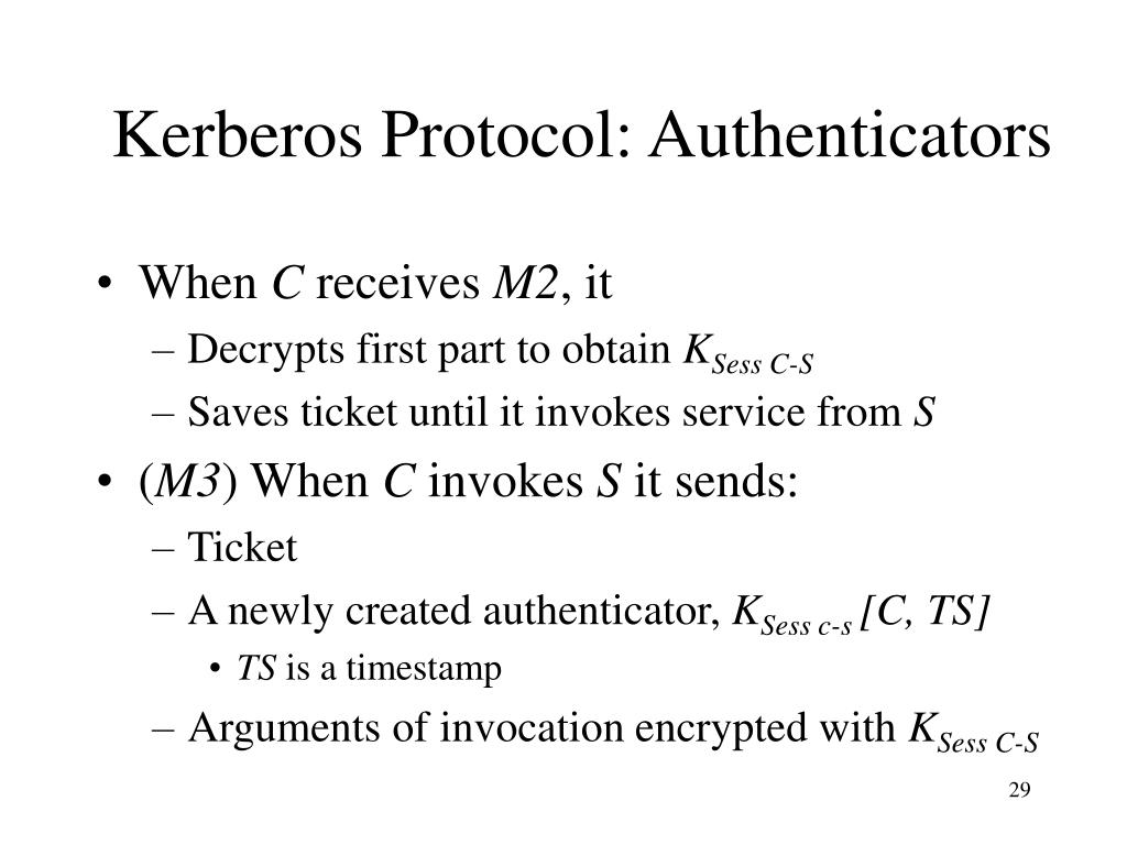 Kerberos Protocol: Authenticators