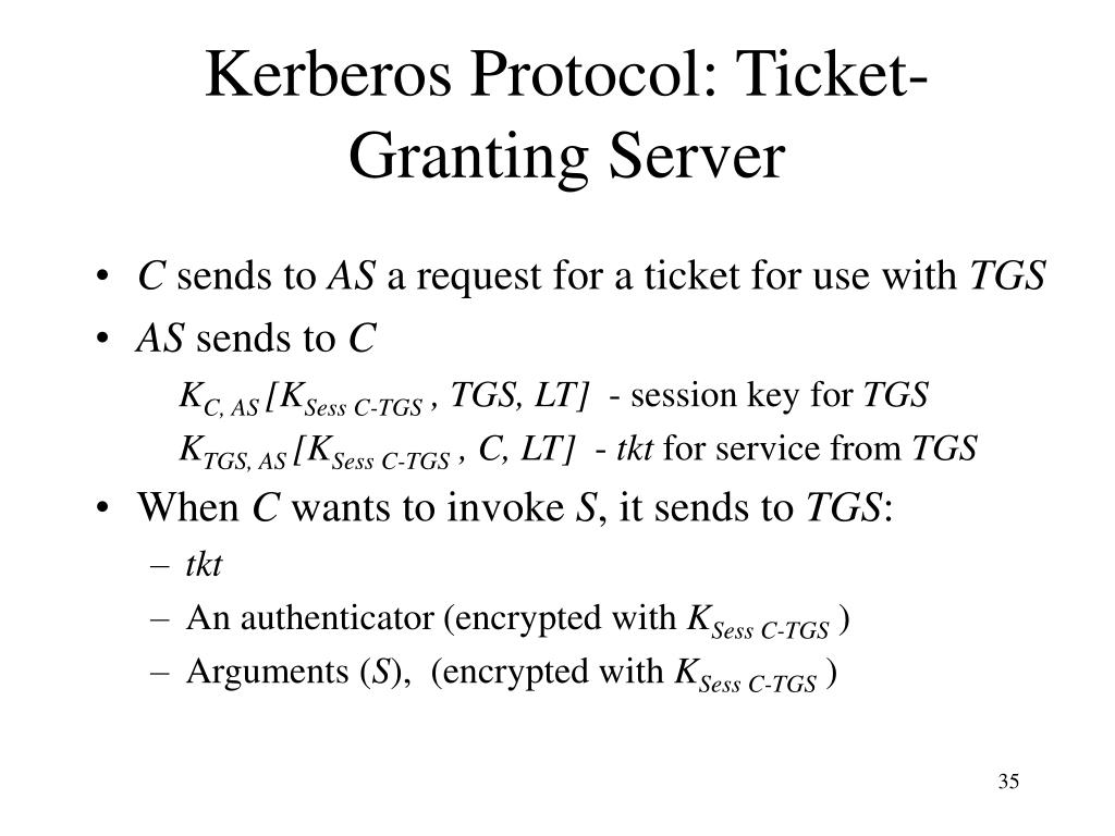 Kerberos Protocol: Ticket-Granting Server