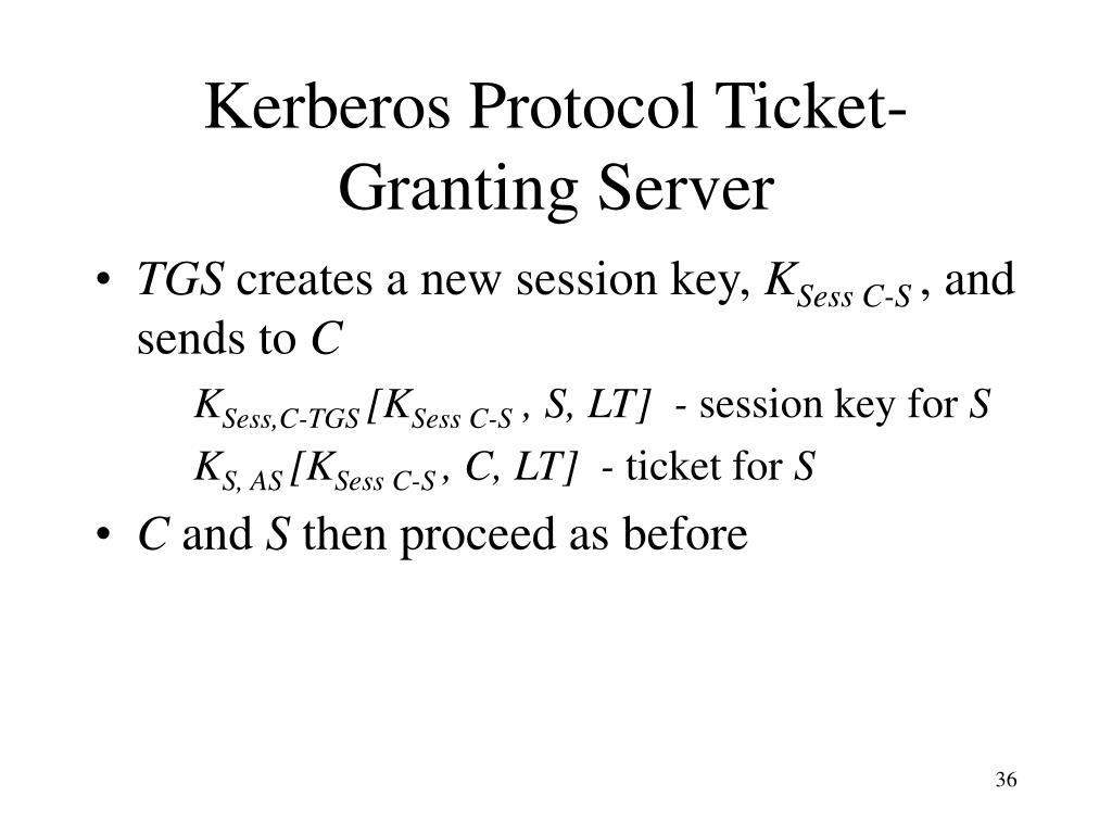 Kerberos Protocol Ticket-Granting Server