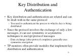key distribution and authentication24