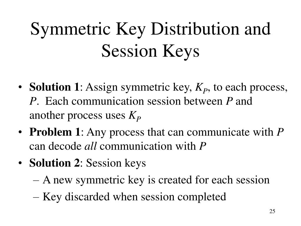 Symmetric Key Distribution and Session Keys