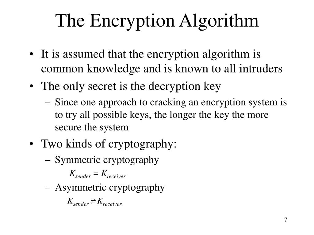 The Encryption Algorithm