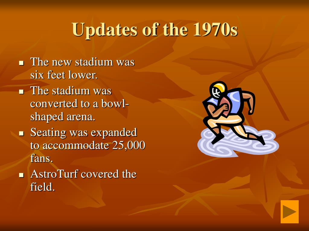 Updates of the 1970s