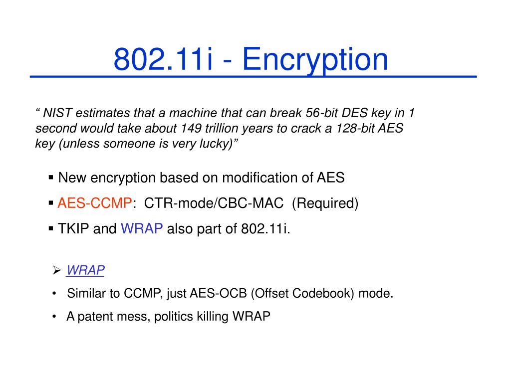 802.11i - Encryption
