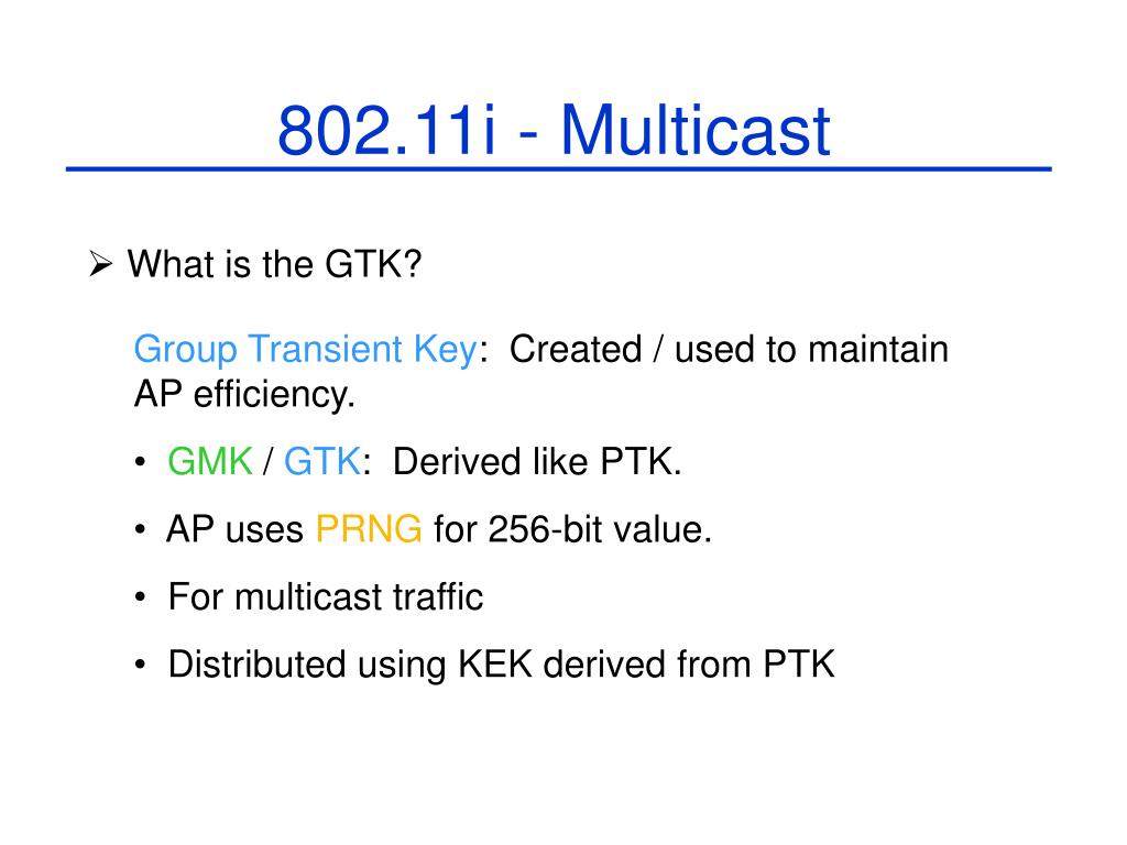 802.11i - Multicast