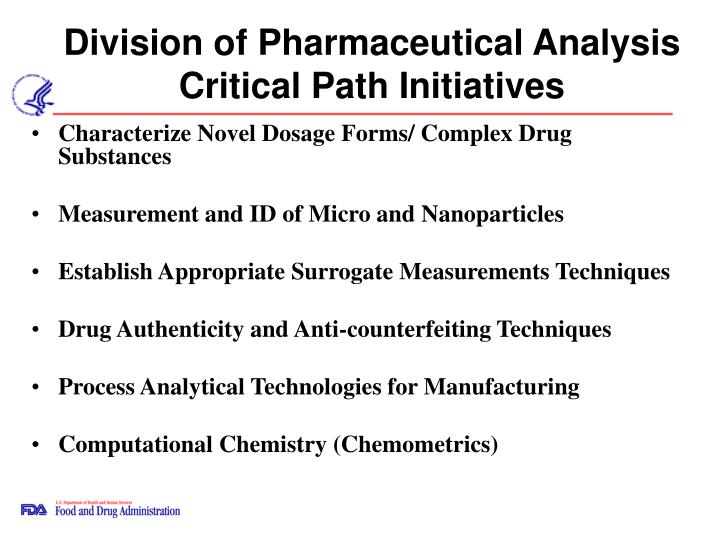 Division of pharmaceutical analysis critical path initiatives l.jpg
