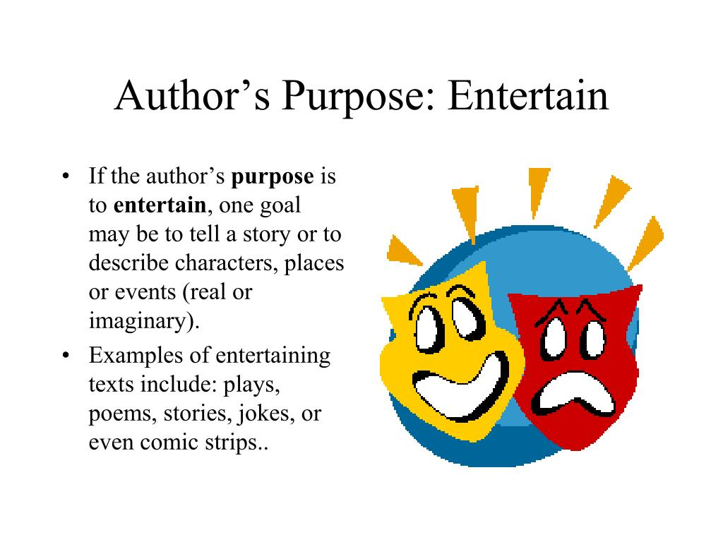 Author's Purpose: Entertain
