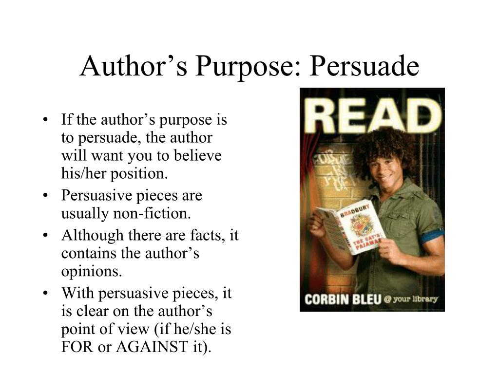 Author's Purpose: Persuade
