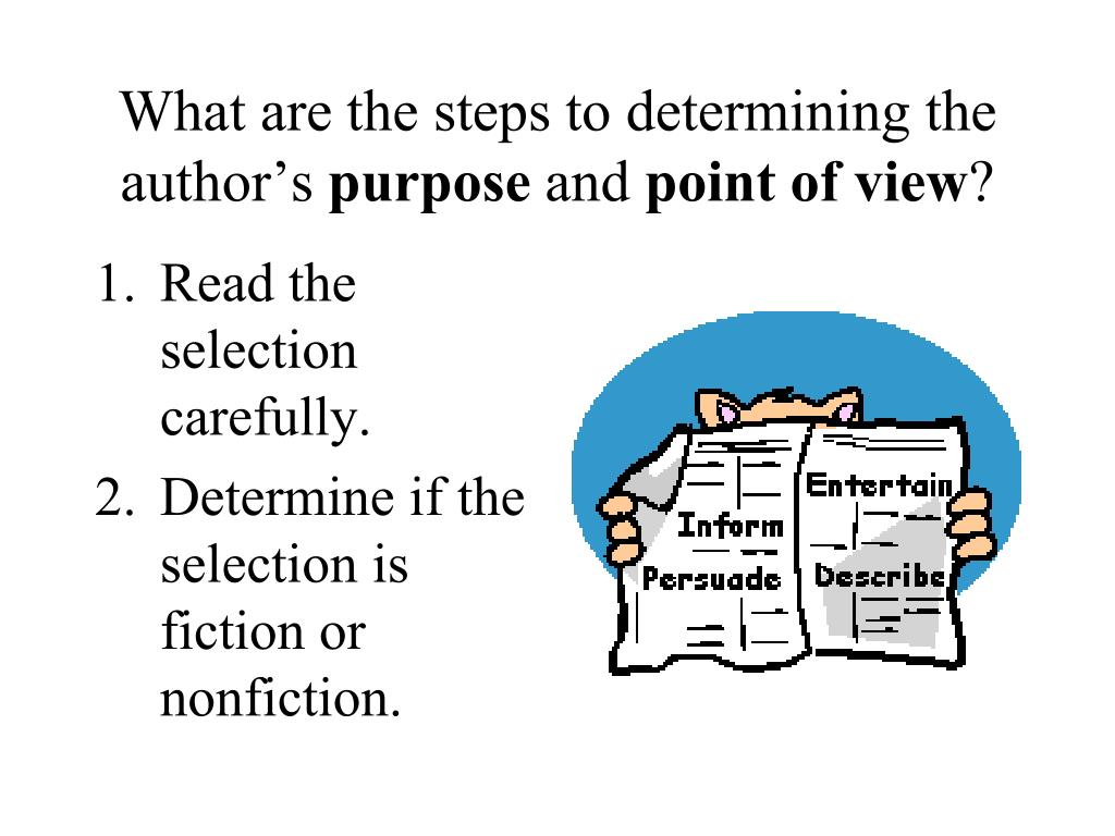 What are the steps to determining the author's